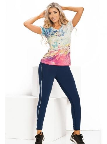 Camisetas Fitness Con Leggins Para Mujer
