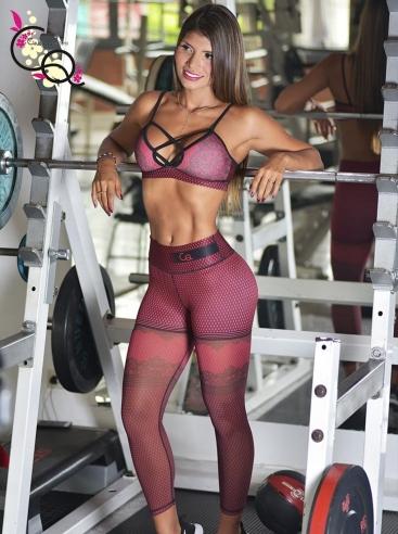 Ropa Fitness Para Mujer Vinotinto