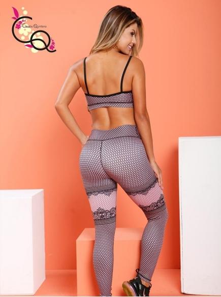 Ropa Fitness Para Mujer Palo de Rosa