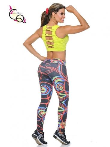 Outfit Con Leggings De Gimnasio Amarillo