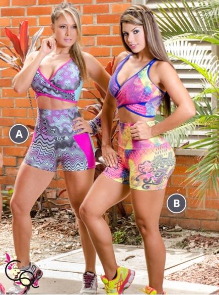 Sets Tops y Shorts Pretina Alta