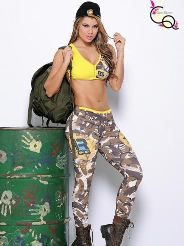 Ropa Femenina Para Entrenamiento Verde Militar