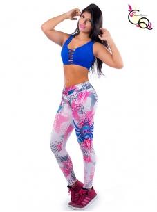 Conjunto Fitness Para Mujer Azul